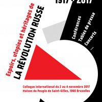 "Colloque international ""1917-2017 : Espoirs, utopies et héritages de la Révolution russe"""